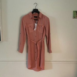 Parasuco Dusty Rose Long Sleeve Shirt Dress